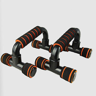 Top Quality Push Up Bar Stands Rack H-Type Handle Workout Fitness Enquipment Gym