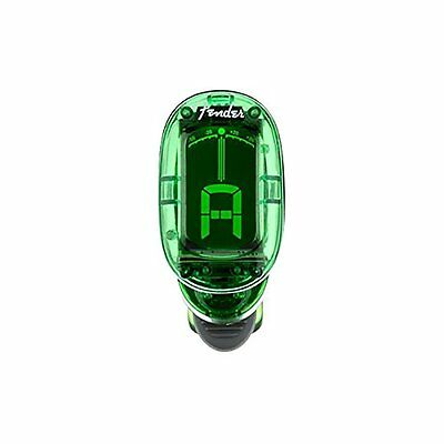 Fender FT-1620 California Chromatic Clip On Guitar Bass Tuner Green FT1620