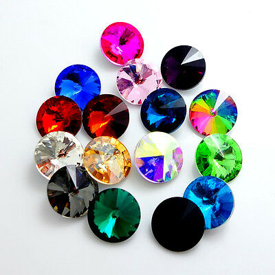 Mixed color ELEMENTS Crystal Rivoli glass loose Beads10mm12mm14mm16mm18mm