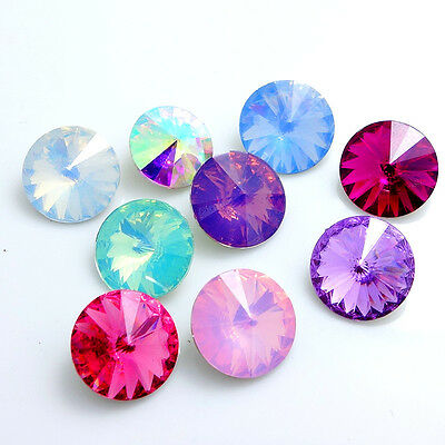 Mixed color element Rivoli Resin Round Beads DIY 8mm10mm12mm14mm16mm