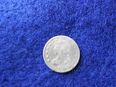 1834  Half Dime Capped Bust