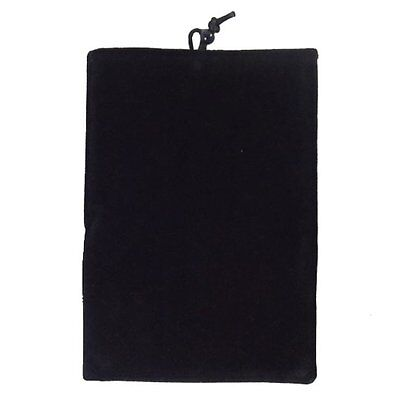 Black Soft Flannelette Bag Pouch Case Cover for Samsung Galaxy Phones 2016