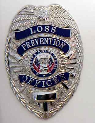 Loss Prevention Officer Security Guard Store Detective Badge Shield Nickel .