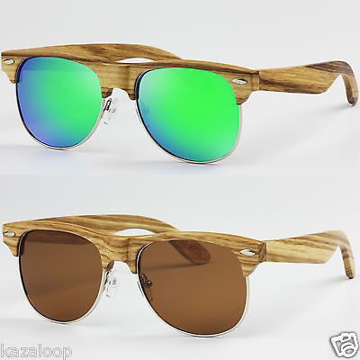 Unisex Mens Womens Full Wood Bamboo Hand Made Polarized Sunglasses