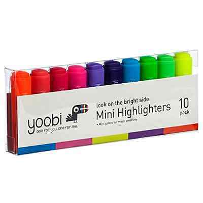 Yoobi Look On The Bright Side Mini Highlighters, 10 Pack - Multi Color .