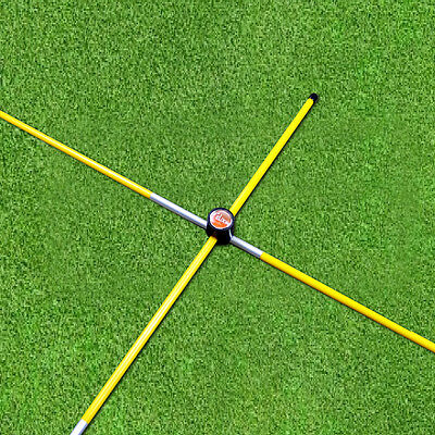 Yellow - Practice Rods Trainer Aids Golf Alignment Sticks Swing