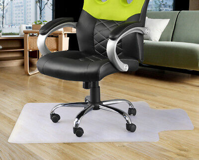 Home Office Carpet Frosted Floor Protector Clear PVC Chair Mat Lipped 120 x 90cm