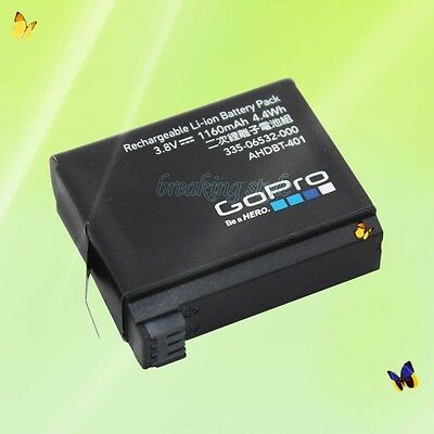 GoPro Genuine Original Rechargeable Battery for HERO4 Black Silver AHDBT-401