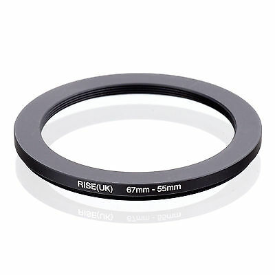RISE (UK) 67-55MM 67MM-55MM 67 to55 Step Down Ring Filter Adapter