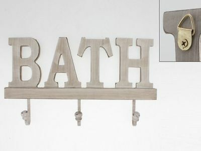 1 Set of Hooks Wall Wooden word Bath plaque decoration gift