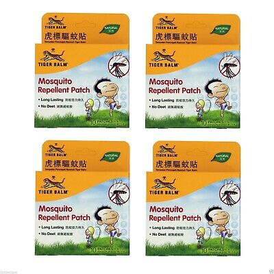 Tiger Balm Mosquito Repellent Patch |Sticker Natural No Deet Long Lasting | Pk 4