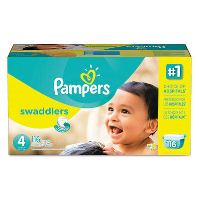Swaddlers Diapers, Size 4: 22 - 37 lbs, 116/Carton