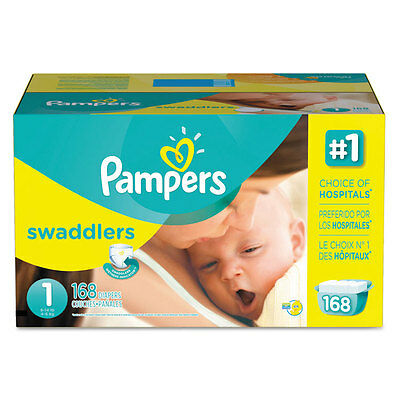 Swaddlers Diapers, Size 1: 8 - 14 lbs, 168/Carton