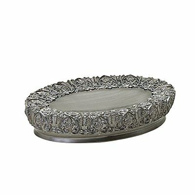 Zenna Home, India Ink Alexa Soap Dish, Brushed Silver, New, Free Shipping