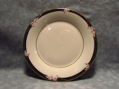 Enchantment by Royal Doulton Bread & Butter Plate Pink Flowers Black Band S119