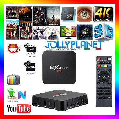 MXQ Pro Android 7.1 1GB 8GB Quad Core Amlogic S905W 4K Smart TV Box WIFI