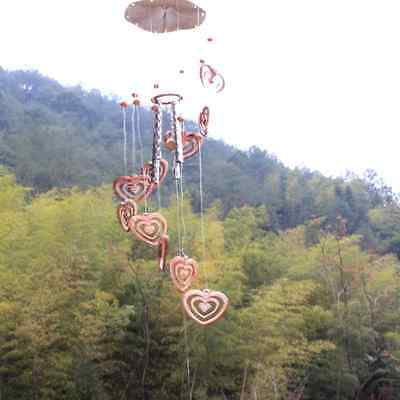 Heart Campanula Wind Chime Bells Gardens Outdoor Porch Window Hanging Decor