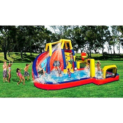 Summer Cool Inflatable Water Slide Bounce House Park Kids Super-Fun Sports -Play