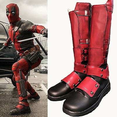 Deadpool X-Men Stiefel Schuhe shoes boots Kostüme Cosplay Costume Zapato Scarpa