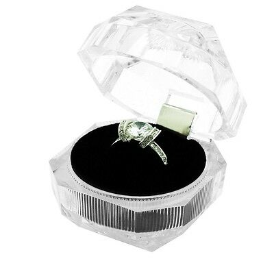 Wholesale Lot 48 Clear Crystal Style Ring Jewelry Display Packaging Gift Boxes
