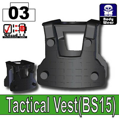 W86 Gray P1 Tactical Army Vest compatible with toy brick minifigures SWAT