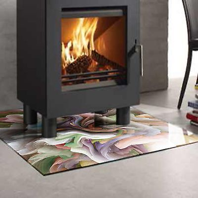 Glass fireplace hearth