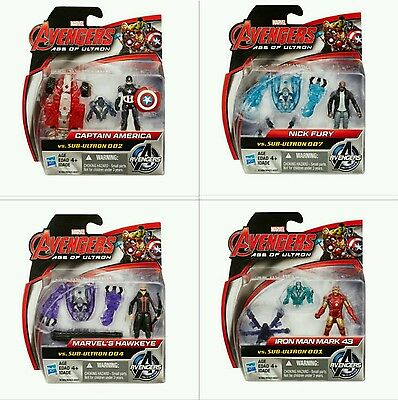 """Marvel Avengers Age of Ultron 2.5"""" Action Figure Pack Lot of 4#001/002/004/007"""