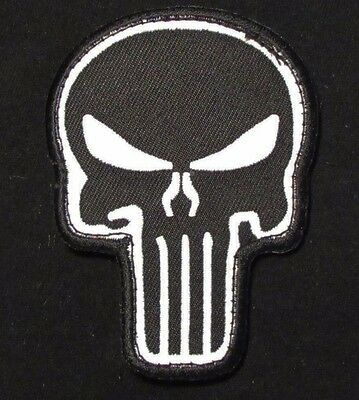 Punisher Skull Usa Army Morale Badge Swat Velcro® Brand Fastener Patch
