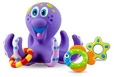Baby Toy Bath Nuby Octopus Floating Tub 3 Rings Toss Toddler Child Gift Fun Play