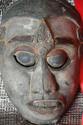Old Balinese Carved Wooden Dance Mask…  has a wonderful patina...