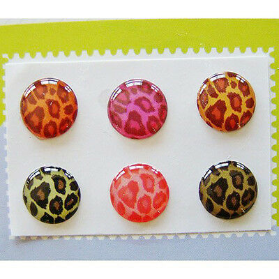Home Button Sticker For iPhone/iPad/iTouch,Leopard,6 Stickers 6-In-1 Pack SY