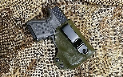 Gunner's Custom Holster fits Glock 26 27 33 w/Streamlight TLR-6  IWB Tuckable