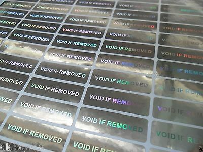 WARRANTY VOID STICKERS 140 x TAMPER PROOF HOLOGRAM SECURITY LABELS 3 X 1CM