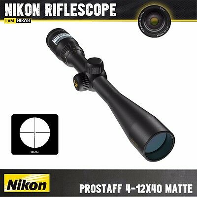 Nikon Prostaff 4-12x40 Matte BDC Rifle Scope Hunting Shooting Optics BRA41004