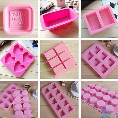 Various Silicone Soap Mold Cake Cookie Muffin Pastry Candy Baking Ice Cube Tray