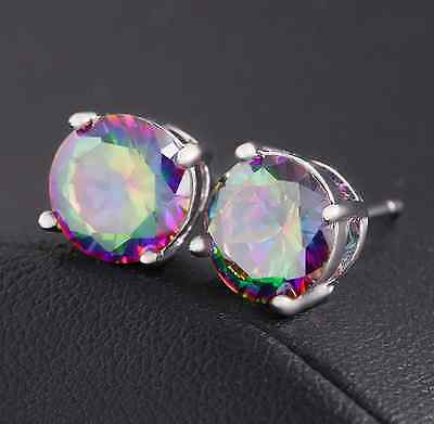 925 Sterling Silver Zircon Ear Stud Earrings Women Fashion Jewelry Birthday Gift