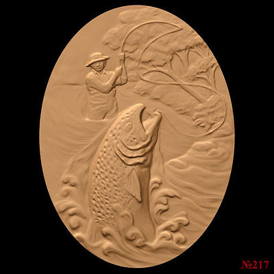 (217) STL Model Fishing for CNC Router 3D Printer  Artcam Aspire Bas Relief
