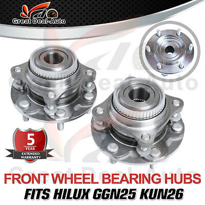 2 x Front Wheel Bearing Hub Hubs Assembly for Toyota Hilux GGN25R KUN26R 2005-15