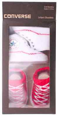 Converse Baby All Star Knit Booties 2 Pack Red/White