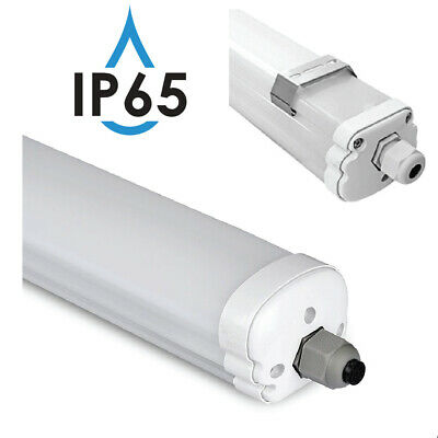 Plafoniera Stagna Neon Ip66 Led Per Esterno 120 150 Doppia Barra Smd Led Inclusa