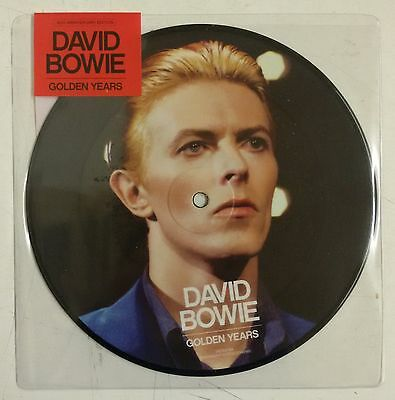 "David Bowie Golden Years Single 7"" UK fotodisco color en funda de PVC"