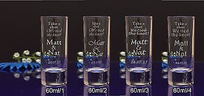 120  Personalised etched 6cl Shot Glasses for Special Day Stag Hen Night Party