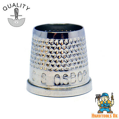 C.S Osborne Open End Tailors Thimble - Nickel Plated Brass - Professional Grade