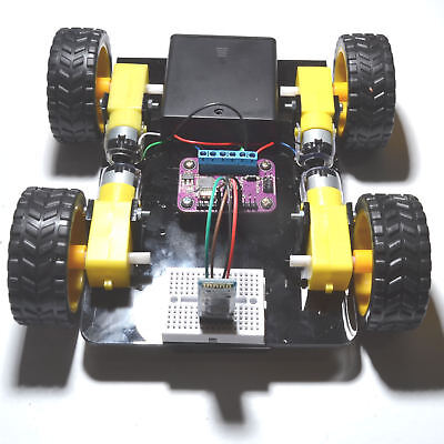 DIY Arduino AVOIDANCE Robot Car Kit with Microprocessor & Code 4WD Chassis