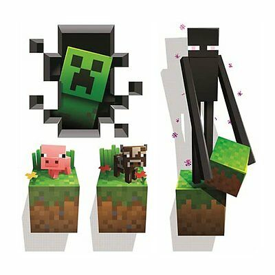 Minecraft 4 Pack Large Wall Vinyl Sticker Pack