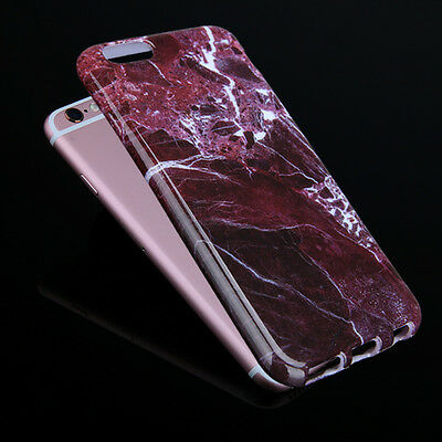 Ultra-thin Slim Marble Soft TPU Rubber Shockproof Case Cover For iPhone Samsung