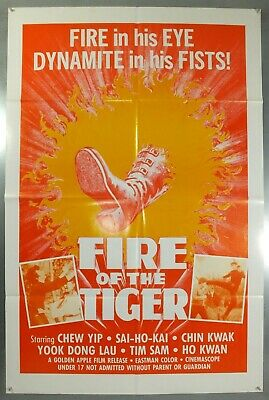Fire Of The Tiger - Chew Yip / Sai-Ho-Kai - Original American 1Sht Movie Poster