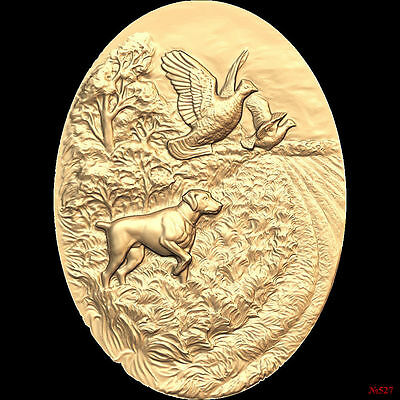 (527) STL Model Hunting for CNC Router 3D Printer  Artcam Aspire Bas Relief
