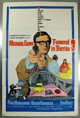 Funeral In Berlin - Michael Caine - Original American One Sheet Movie Poster