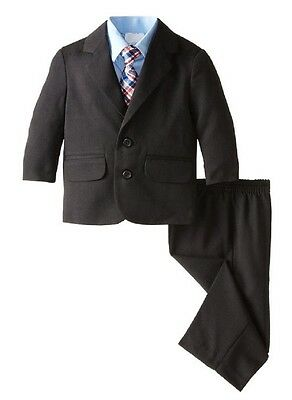 Nautica Herringbone Suit Four Piece Set w/ Light Blue Dressy Shirt